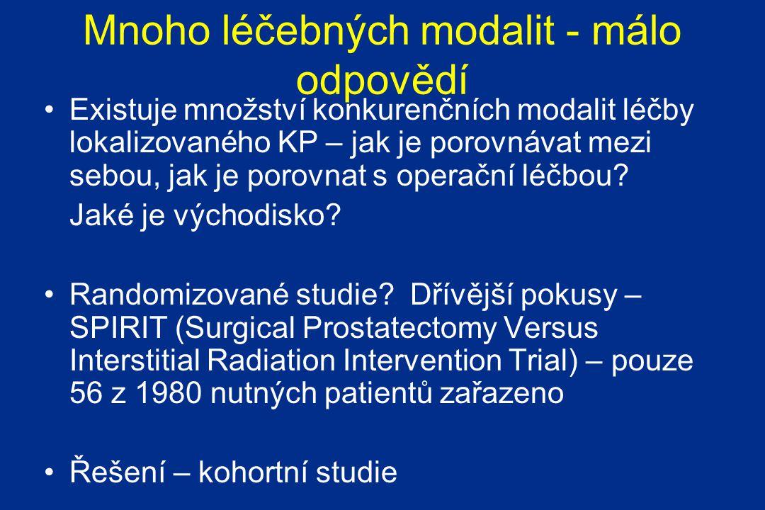Mnoho léčebných modalit - málo odpovědí
