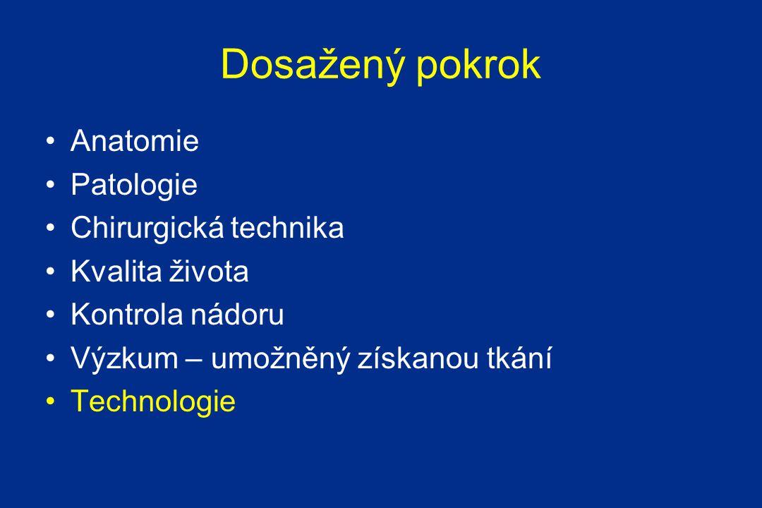 Dosažený pokrok Anatomie Patologie Chirurgická technika Kvalita života