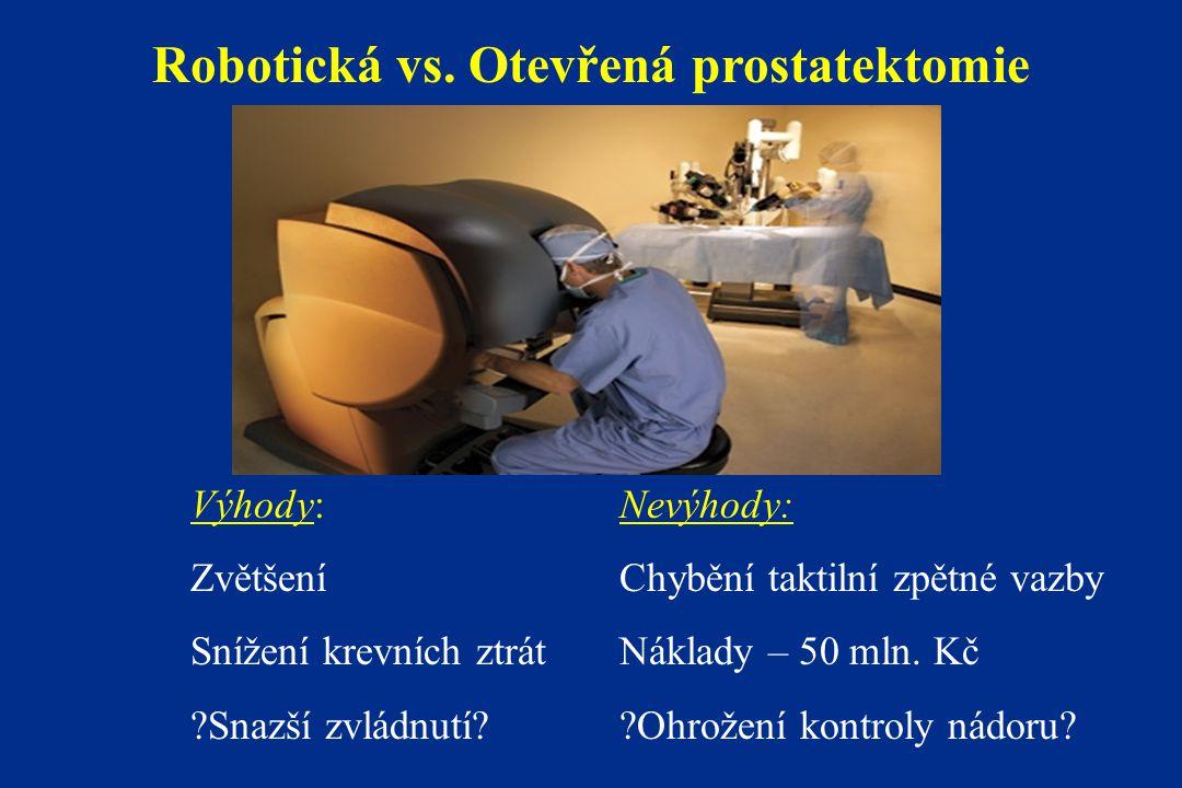 Robotická vs. Otevřená prostatektomie
