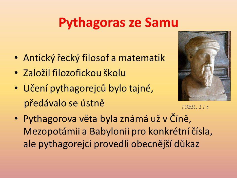Pythagoras ze Samu Antický řecký filosof a matematik