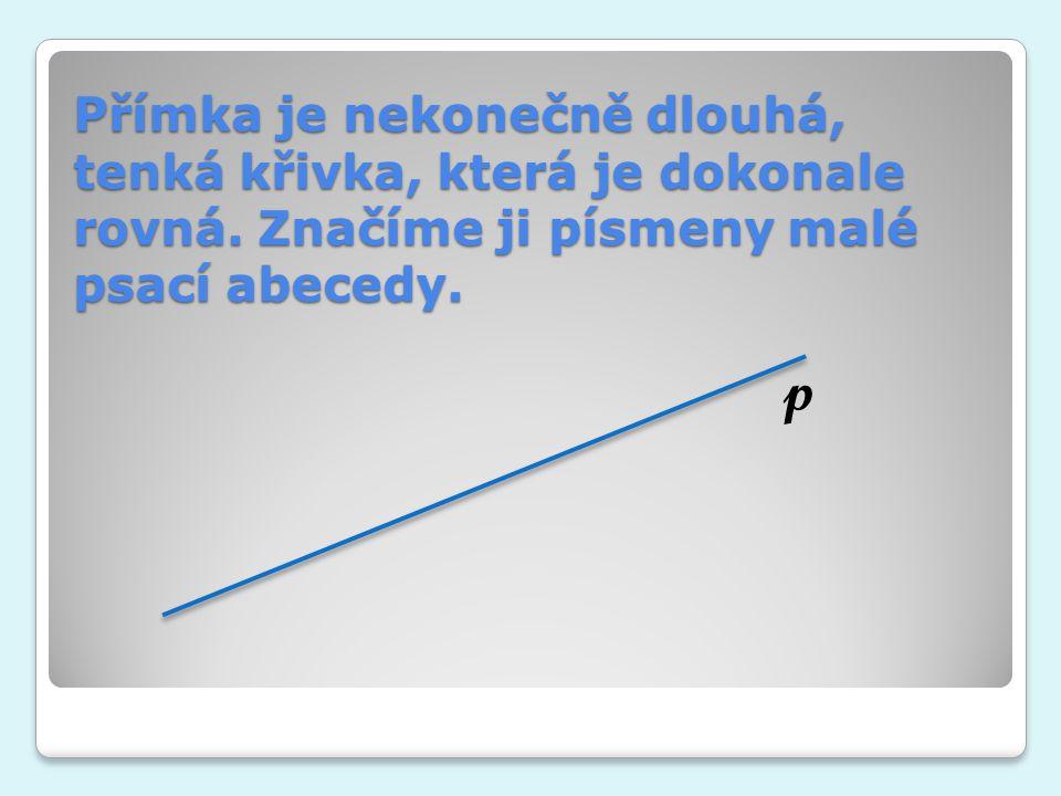 Přímka je nekonečně dlouhá, tenká křivka, která je dokonale rovná
