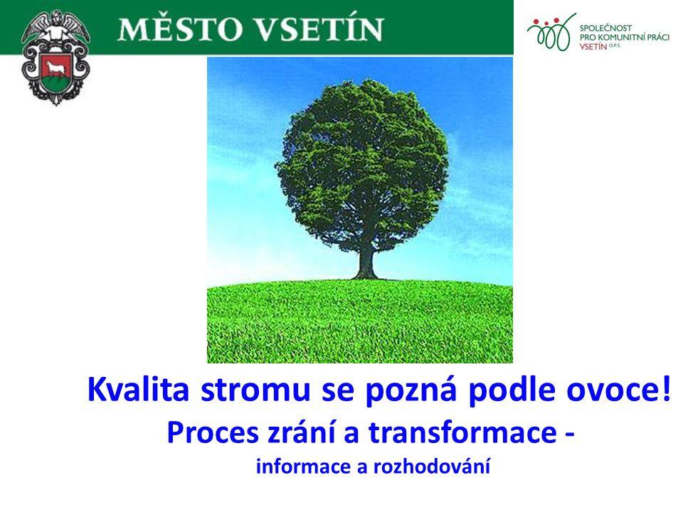 Kvalita stromu se pozná podle ovoce