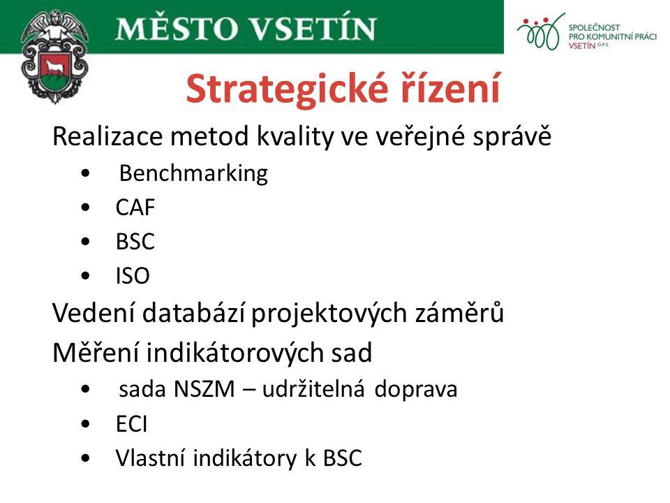Strategické řízení Realizace metod kvality ve veřejné správě