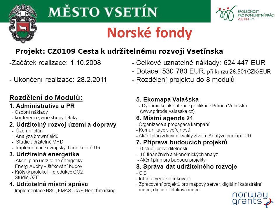 Projekt: CZ0109 Cesta k udržitelnému rozvoji Vsetínska
