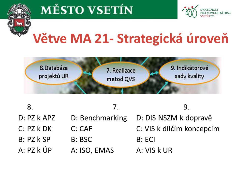 Větve MA 21- Strategická úroveň
