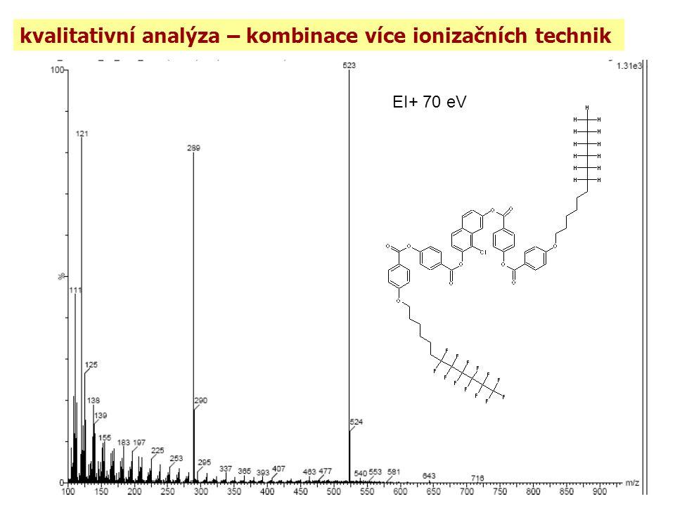 kvalitativní analýza – kombinace více ionizačních technik