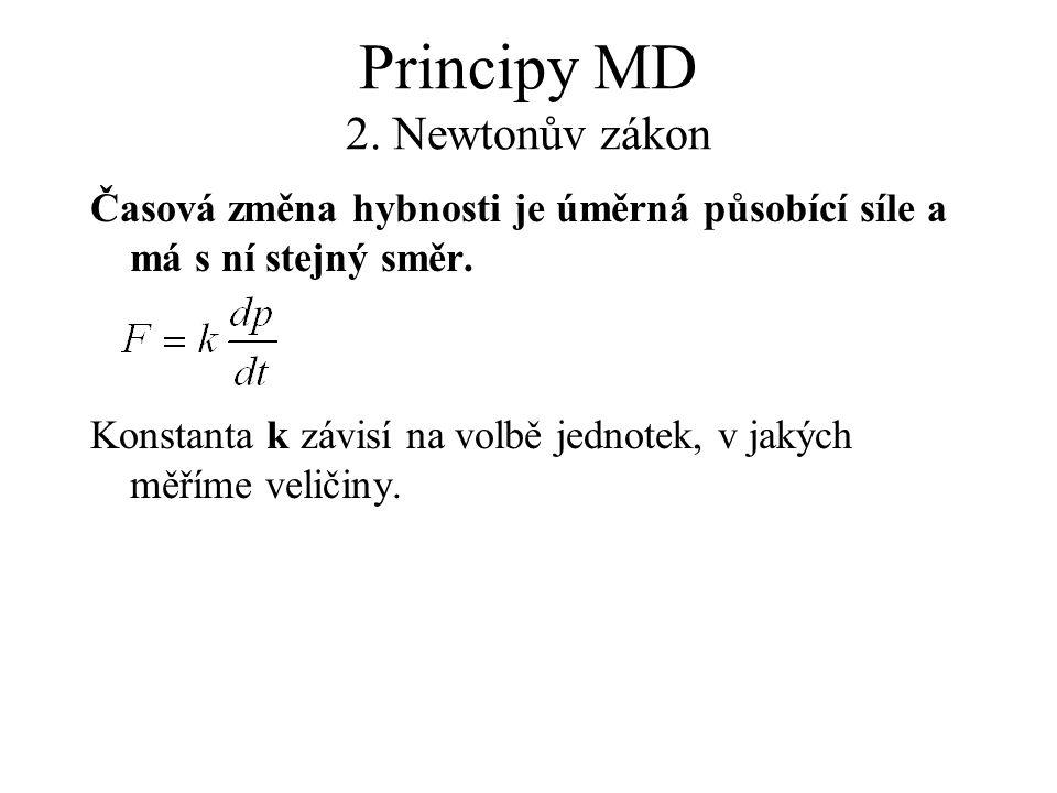 Principy MD 2. Newtonův zákon