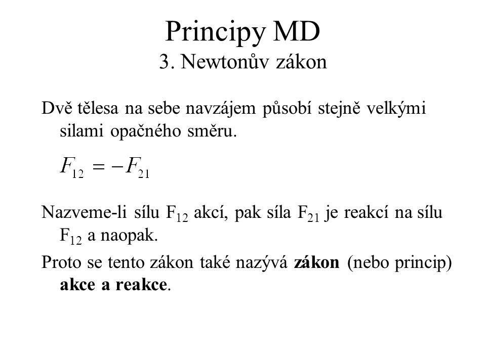 Principy MD 3. Newtonův zákon