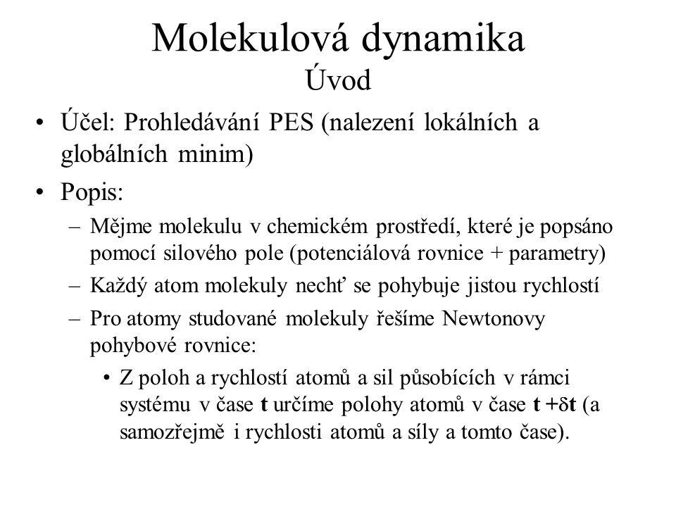 Molekulová dynamika Úvod