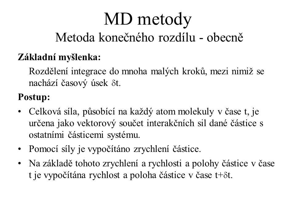 MD metody Metoda konečného rozdílu - obecně