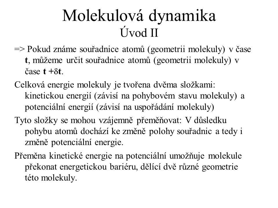 Molekulová dynamika Úvod II