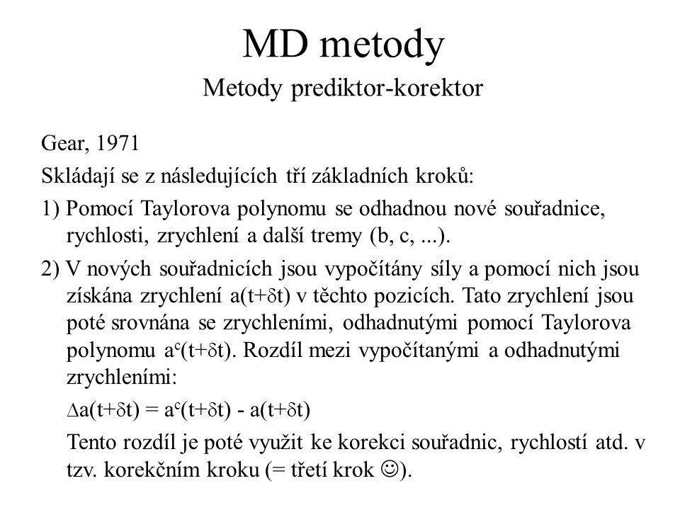 MD metody Metody prediktor-korektor