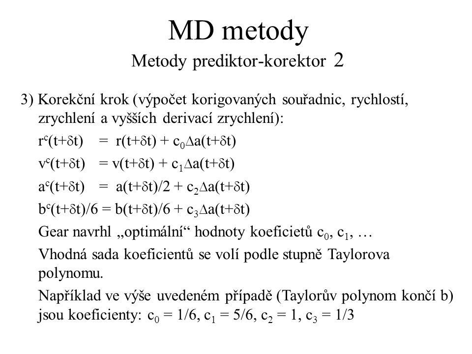 MD metody Metody prediktor-korektor 2