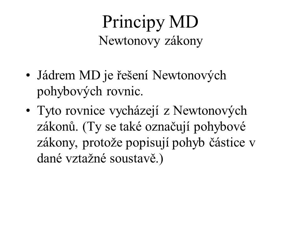 Principy MD Newtonovy zákony
