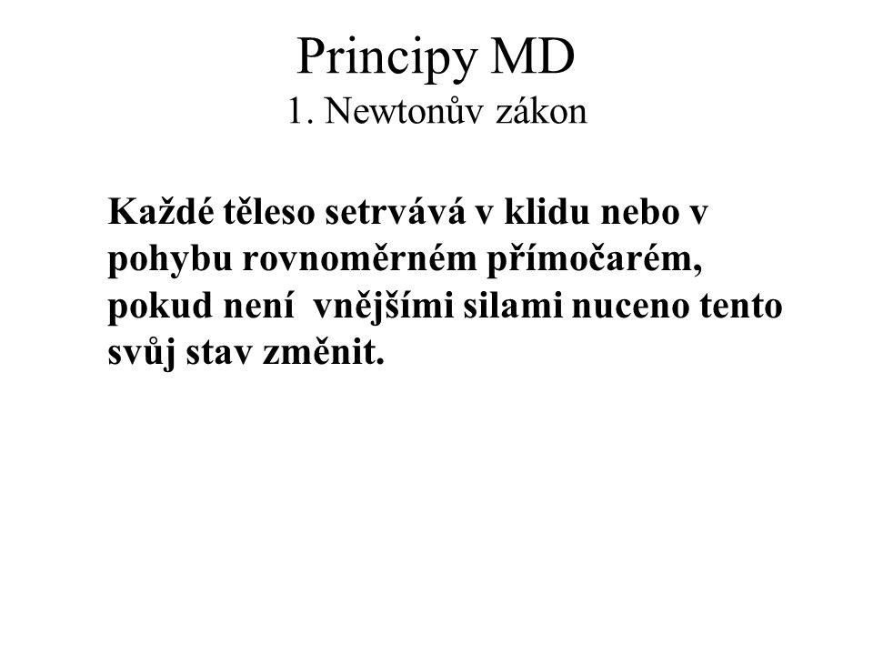 Principy MD 1. Newtonův zákon