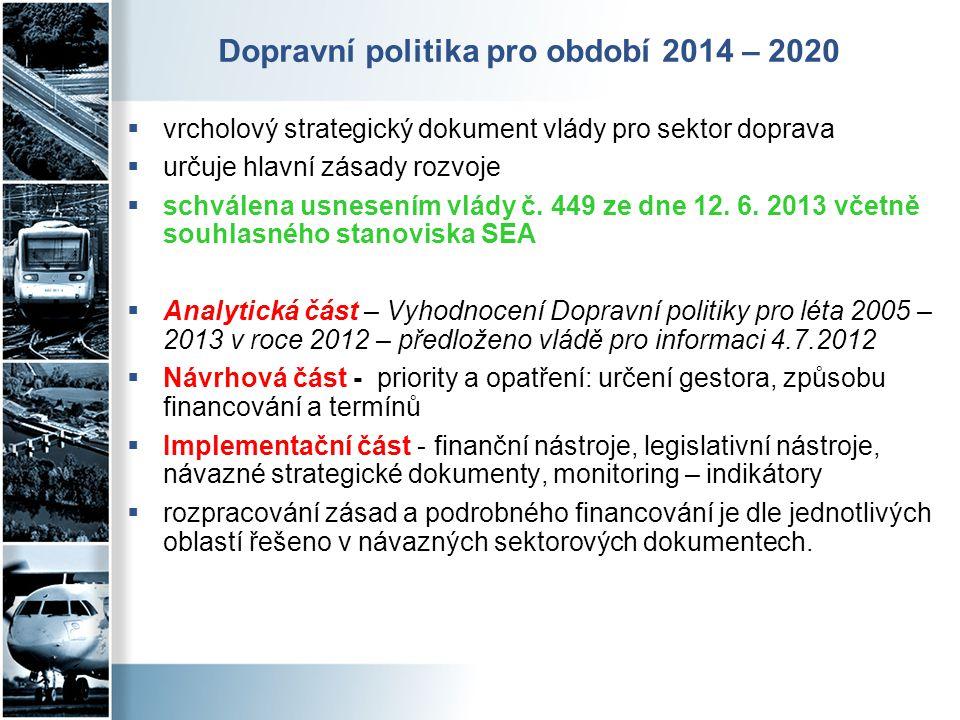 Dopravní politika pro období 2014 – 2020