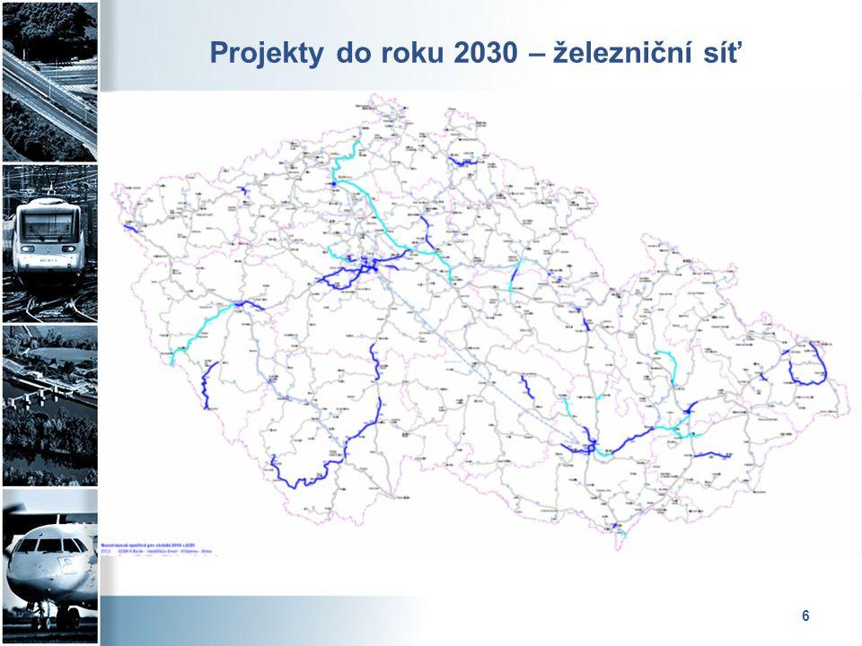 Projekty do roku 2030 – železniční síť