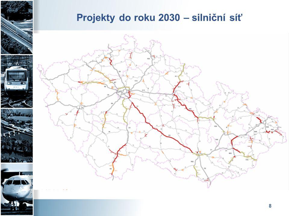 Projekty do roku 2030 – silniční síť