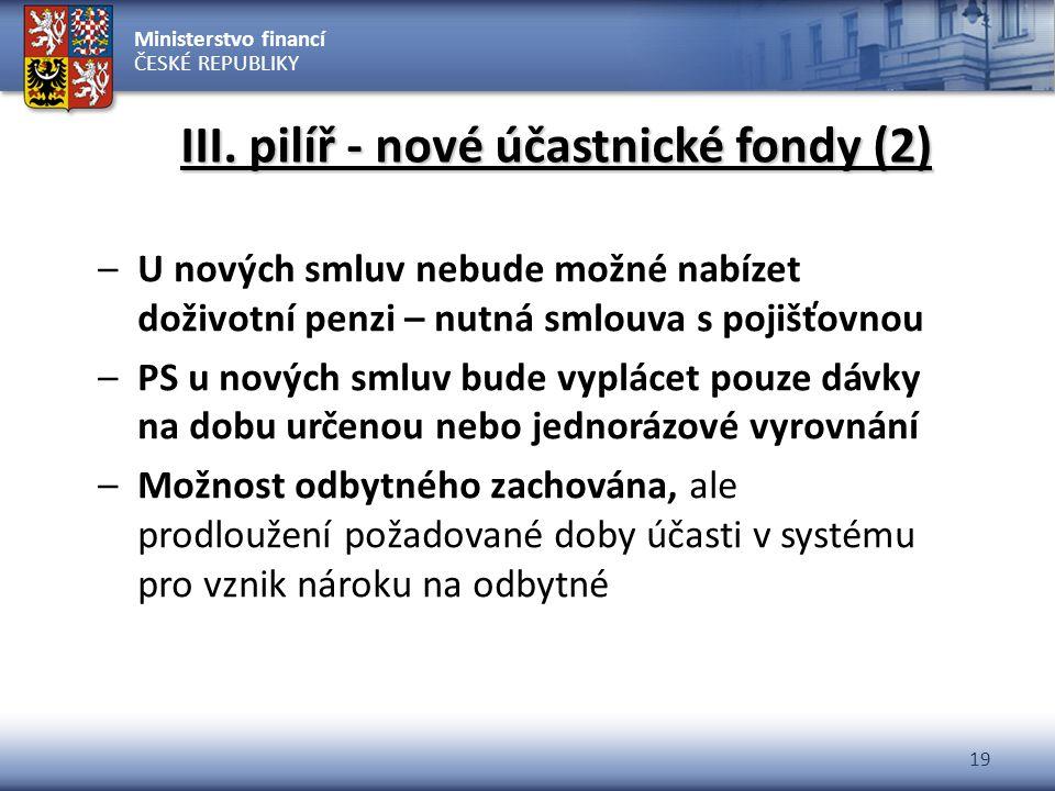 III. pilíř - nové účastnické fondy (2)
