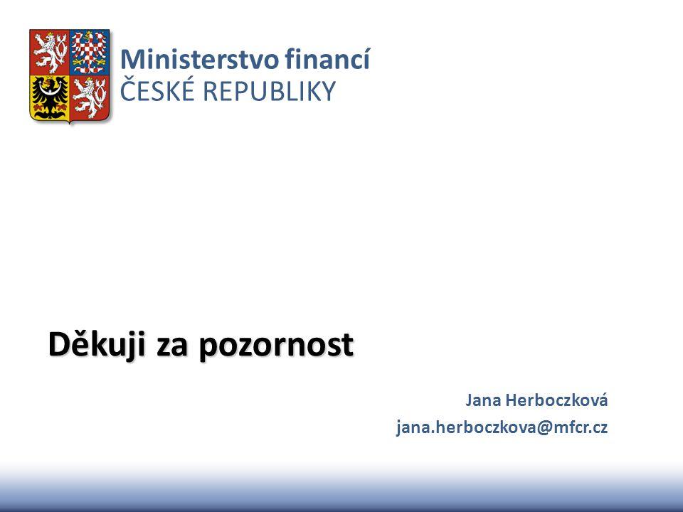 Jana Herboczková jana.herboczkova@mfcr.cz