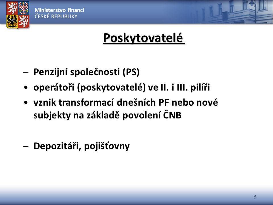Poskytovatelé Penzijní společnosti (PS)