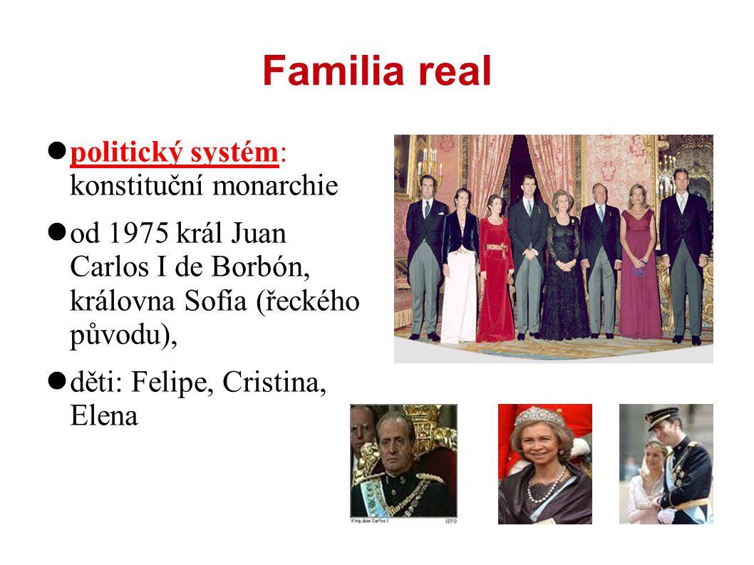 Familia real politický systém: konstituční monarchie