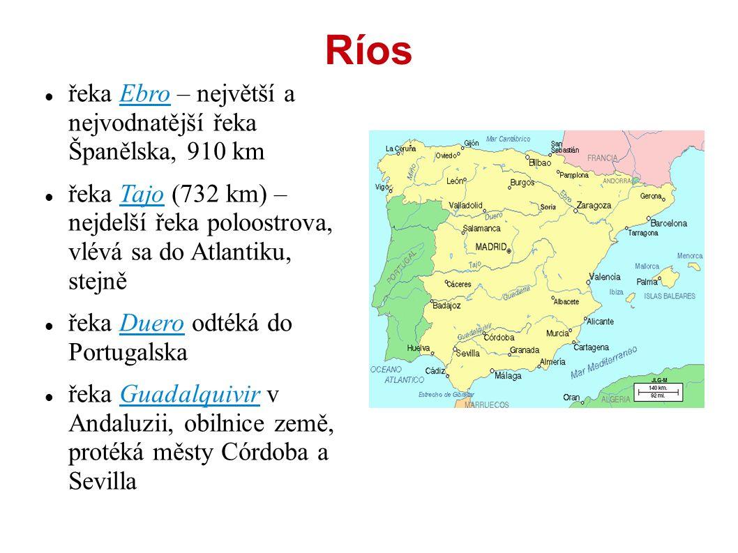 Ríos řeka Ebro – největší a nejvodnatější řeka Španělska, 910 km