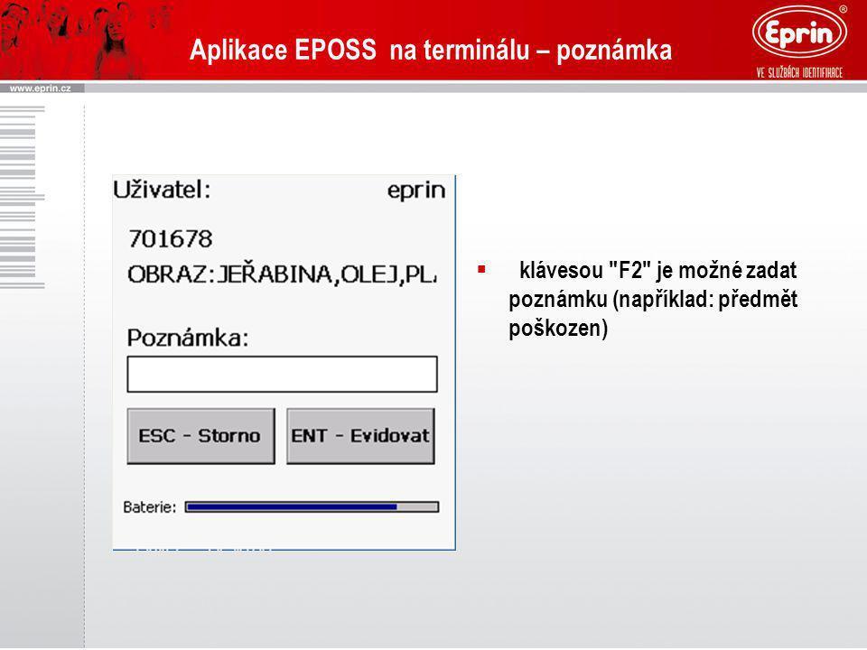 Aplikace EPOSS na terminálu – poznámka