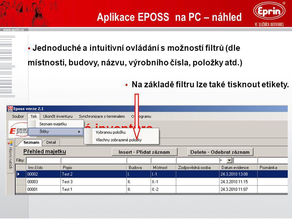 Aplikace EPOSS na PC – náhled