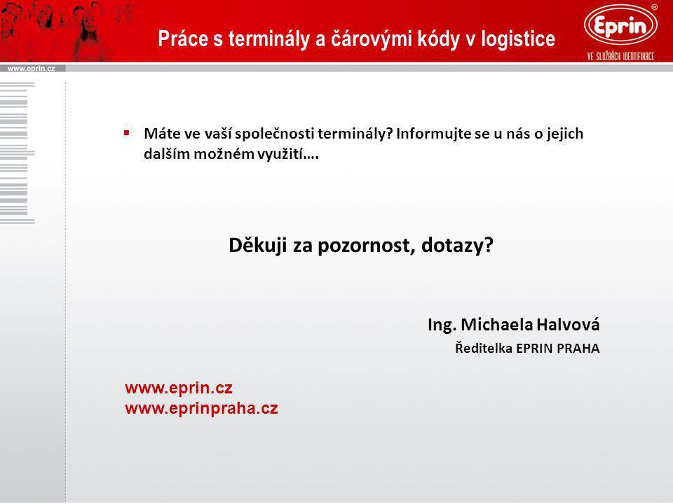 Práce s terminály a čárovými kódy v logistice