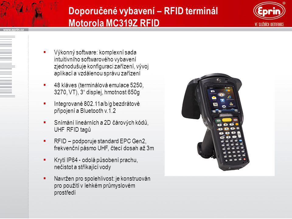 Doporučené vybavení – RFID terminál Motorola MC319Z RFID