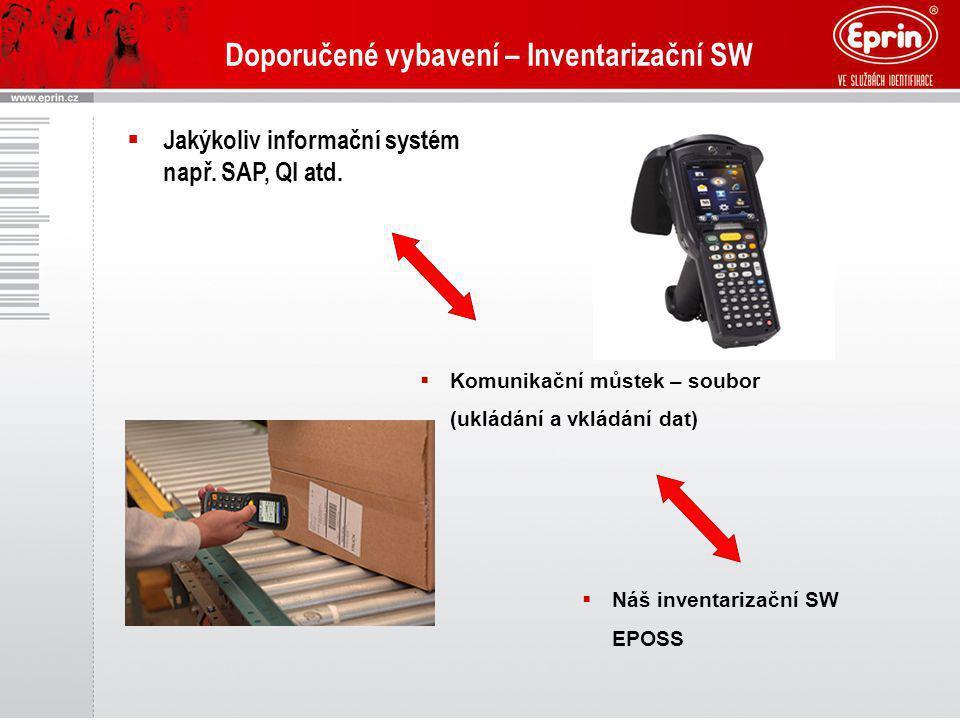 Doporučené vybavení – Inventarizační SW