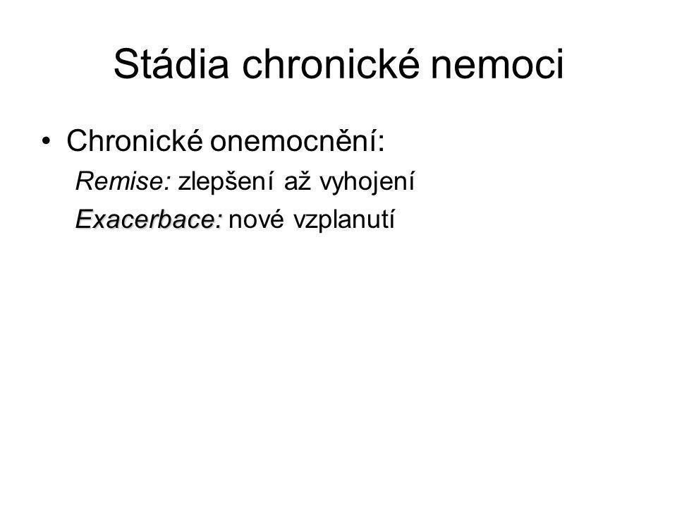 Stádia chronické nemoci