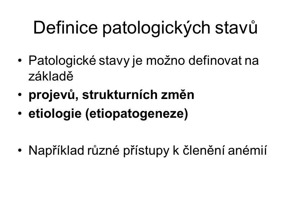 Definice patologických stavů