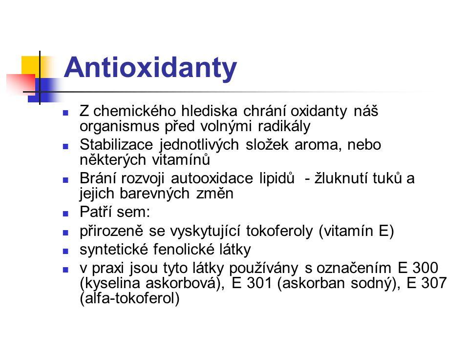 Antioxidanty Z chemického hlediska chrání oxidanty náš organismus před volnými radikály.