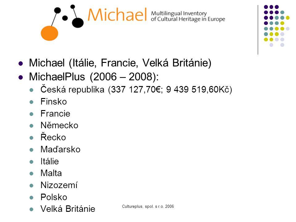 Michael (Itálie, Francie, Velká Británie) MichaelPlus (2006 – 2008):
