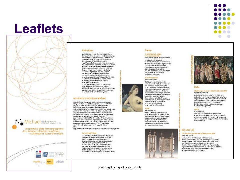 Leaflets Cultureplus, spol. s r.o. 2006