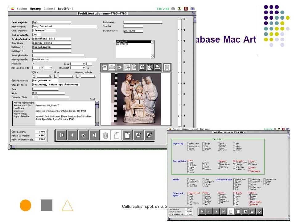 Database Mac Art Cultureplus, spol. s r.o. 2006