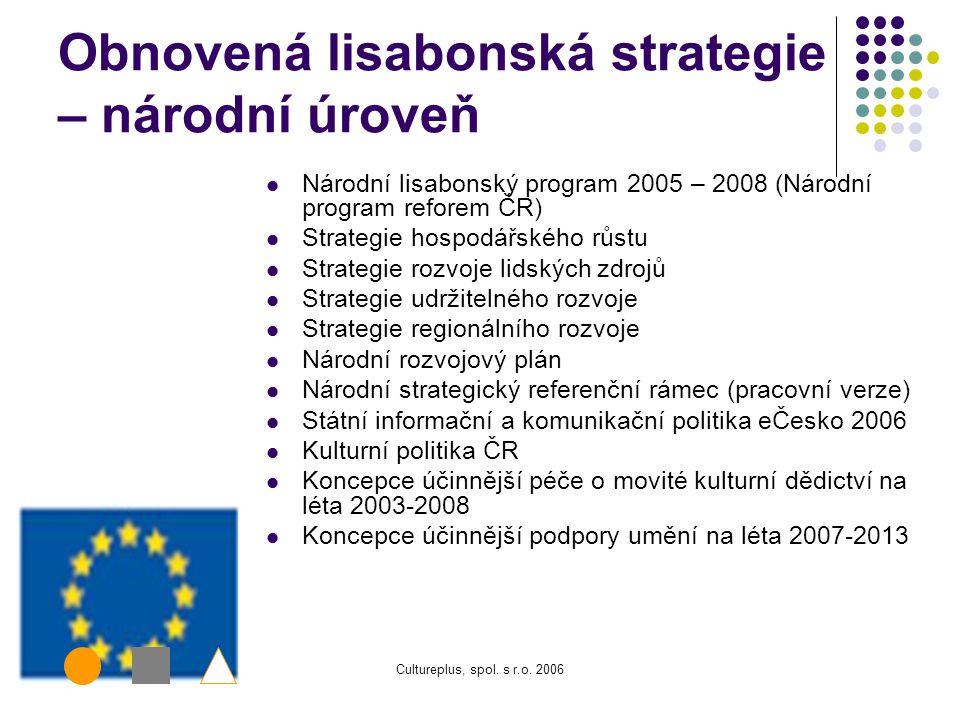 Obnovená lisabonská strategie – národní úroveň