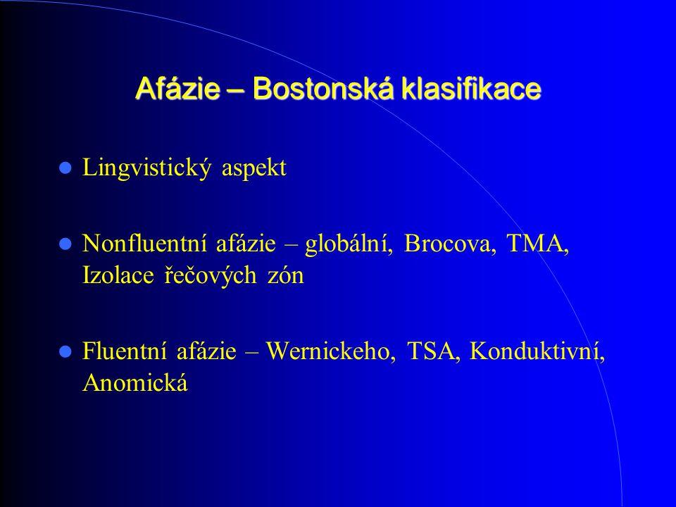 Afázie – Bostonská klasifikace