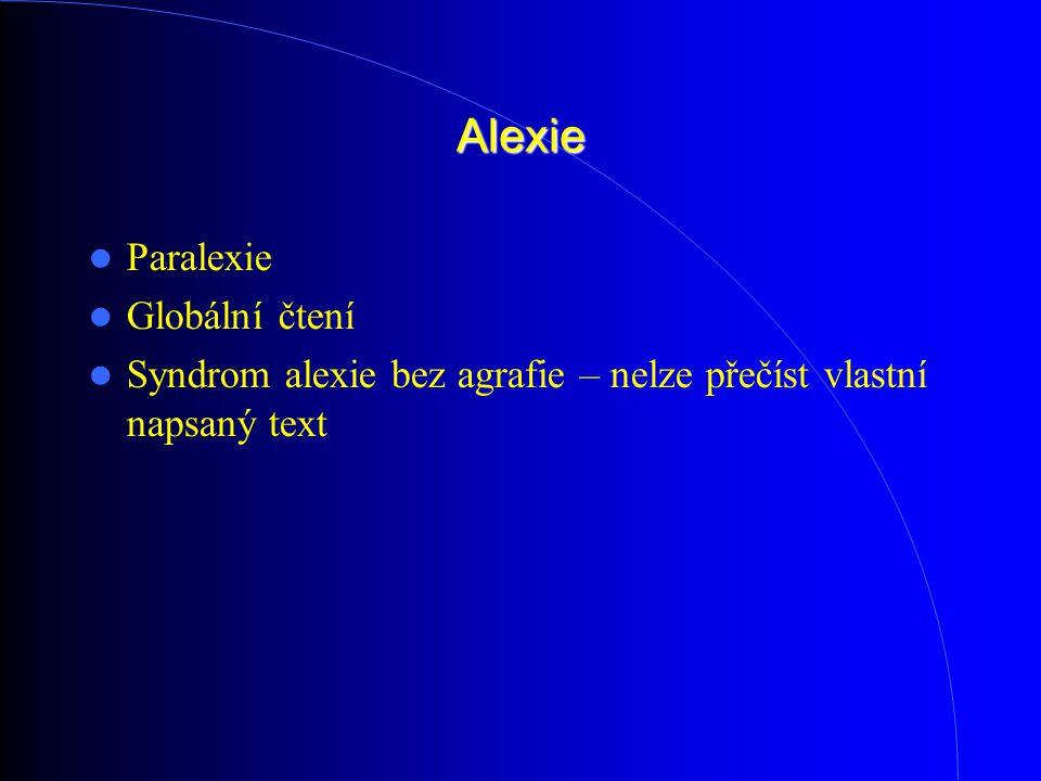 Alexie Paralexie Globální čtení