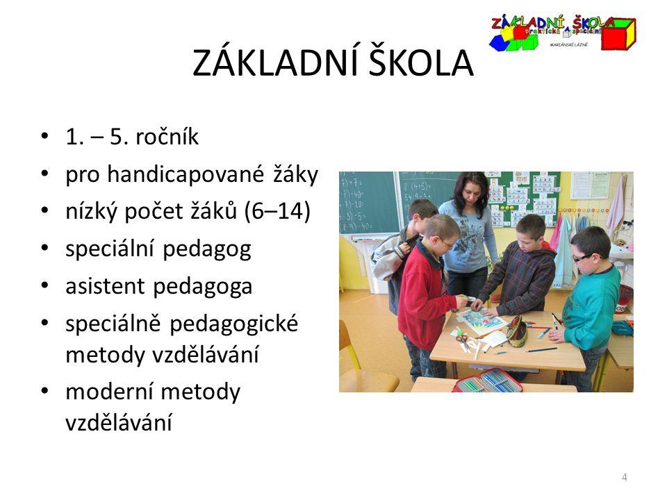 ZÁKLADNÍ ŠKOLA 1. – 5. ročník pro handicapované žáky
