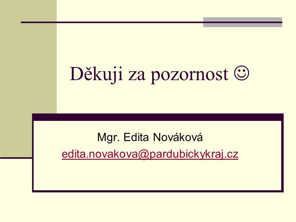 Mgr. Edita Nováková edita.novakova@pardubickykraj.cz