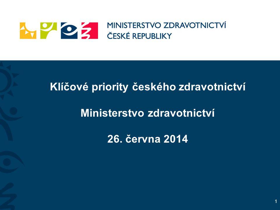 Klíčové priority českého zdravotnictví Ministerstvo zdravotnictví