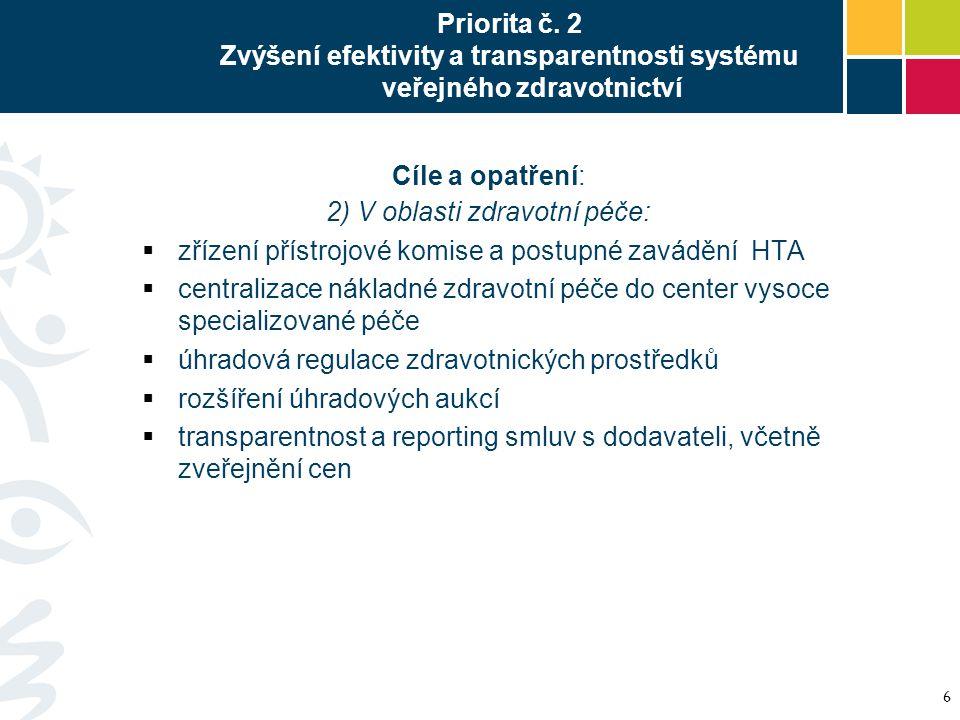 2) V oblasti zdravotní péče: