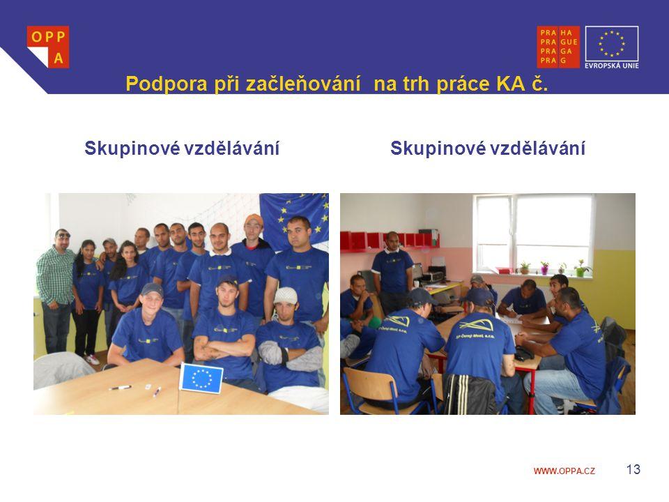Podpora při začleňování na trh práce KA č.
