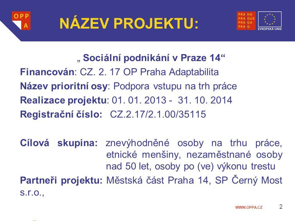 """"""" Sociální podnikání v Praze 14"""
