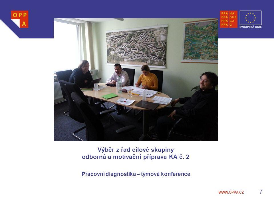 Výběr z řad cílové skupiny odborná a motivační příprava KA č. 2