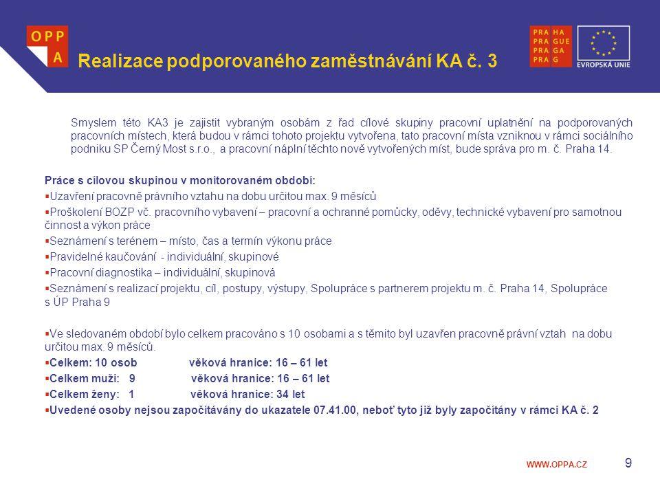 Realizace podporovaného zaměstnávání KA č. 3