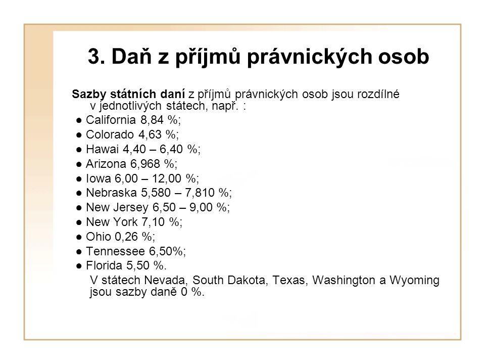 3. Daň z příjmů právnických osob